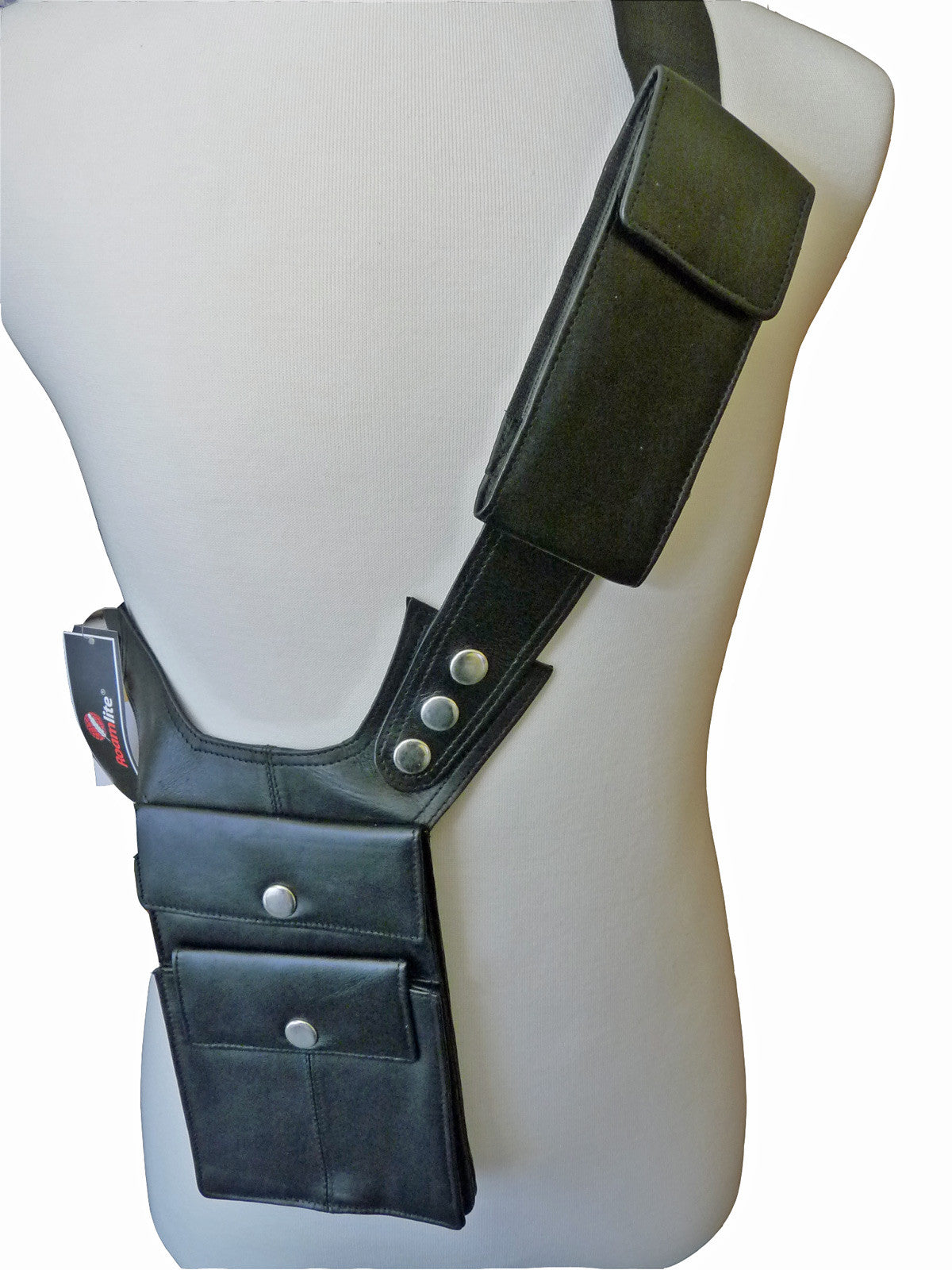 Shoulder Under Arm Holster Travel Bag Black RL705 MODEL VIEW 2