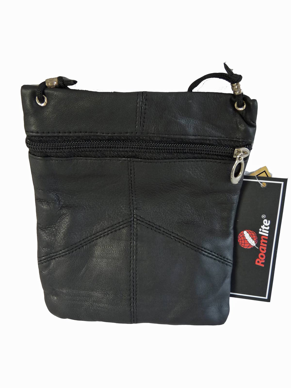 Leather Neck Pouch RL130 Black Rear View