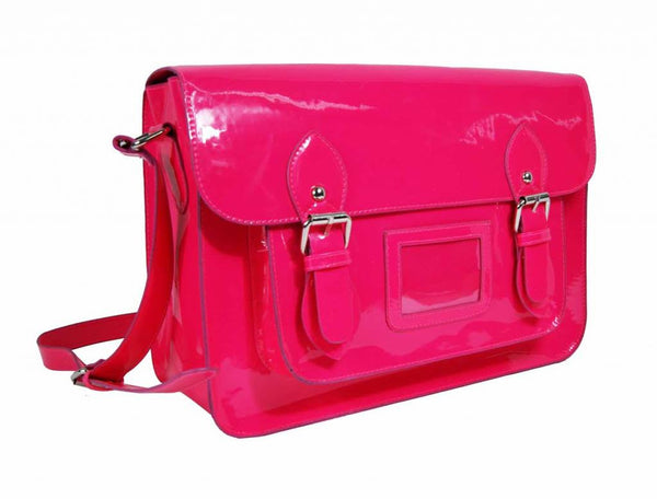 Satchel Patent Leather Girls Cross Body Bag Bags Neon Pink