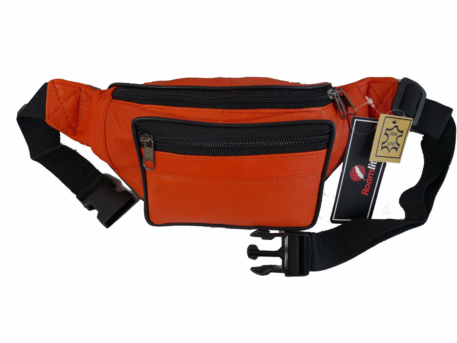 Leather Bumbag RL700O Orange Front View