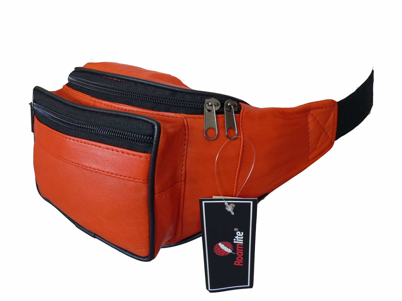 Leather Bumbag RL700O Orange Side View