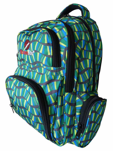 School Backpacks Bags RL88S Green Stripes