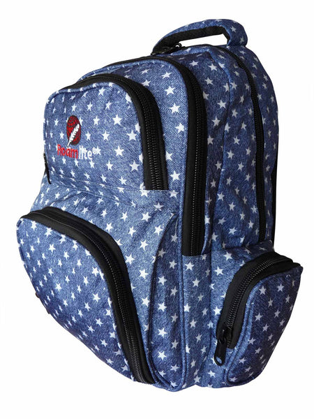 School Backpacks Bags RL88S Navy Blue Stars