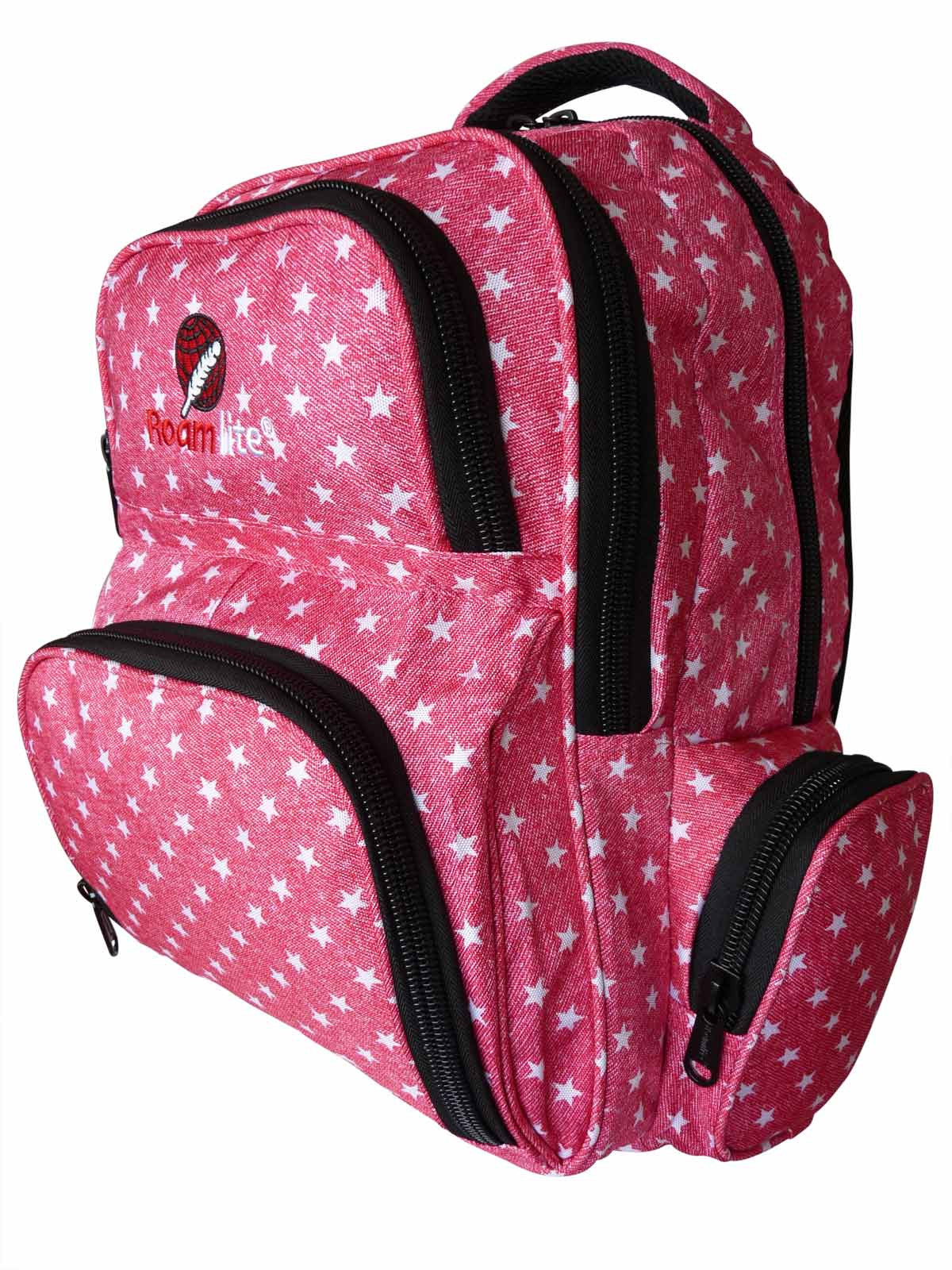 School Backpacks Bags RL88S Pink Stars