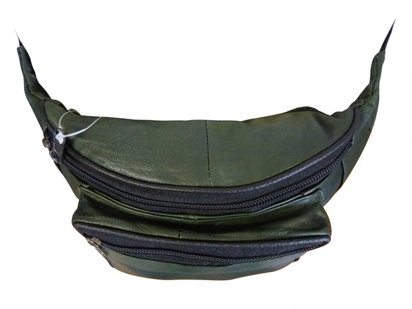 Bumbag Real Soft Leather Bumbags - 3 Zipped Pockets - Up To 47 inch Large Waist - Ideal Festival Bum Bag - Great Bum Bags For Travel Or Holiday - 9 Colours - Can Be Worn As A Money Belt Pouch - RL700 (Brown)