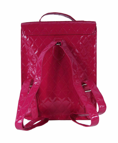Satchel Backpack Rucksack Bag School Satchels Bags Pvc Q215P rear view