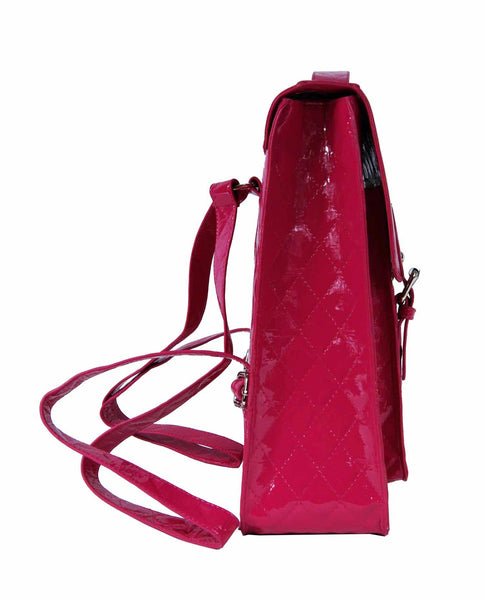 Satchel Backpack Rucksack Bag School Satchels Bags Pvc Q215P side side view