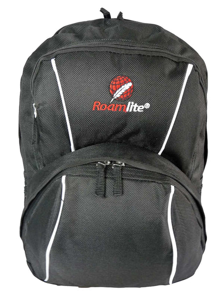 Kids School Backpack Bag RL28 Black Front View