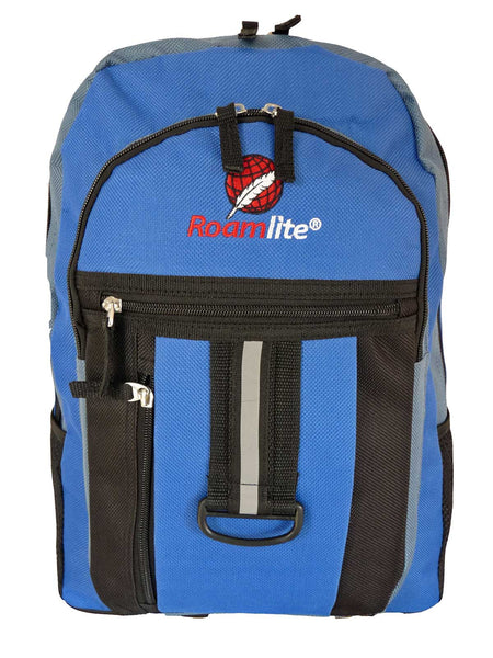 School Backpack RL32 Light Blue Front View