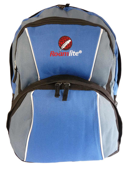 Kids School Backpack Bag RL28 Light Blue Front View