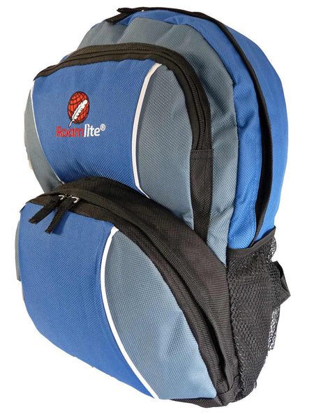 Kids School Backpack Bag RL28 Light Blue Side View