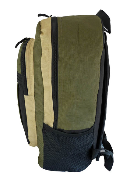 School Backpack RL32 Green S Side View
