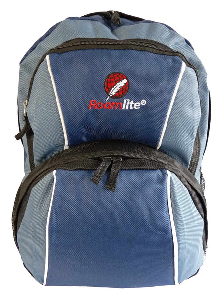 Kids School Backpack Bag RL28 Dark Blue Front View