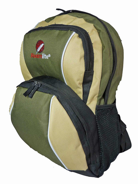 Kids School Backpack Bag RL28 Green Side View