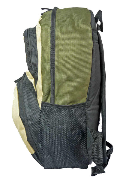 Kids School Backpack Bag RL28 Green S Side View