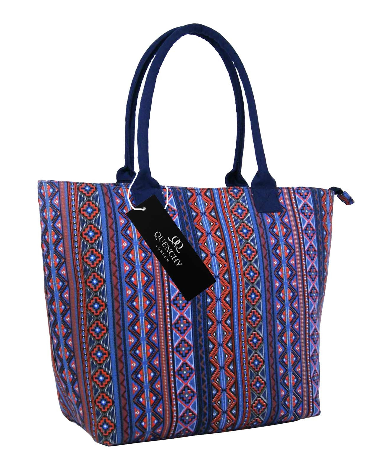 Canvas Shopping Tote Beach Bag Aztec Pink QL3154Ps