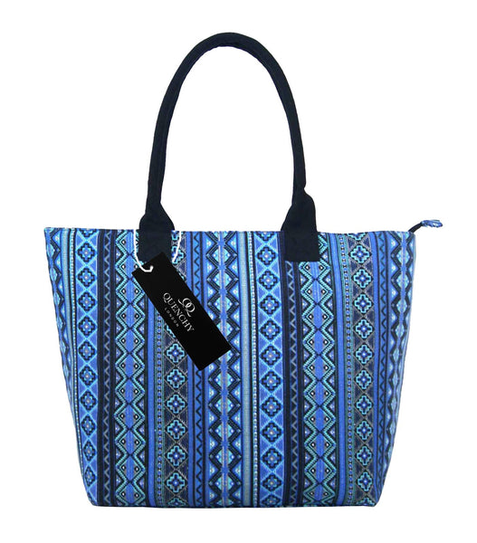 Canvas Shopping Tote Beach Bag Aztec Blue QL3154Nf
