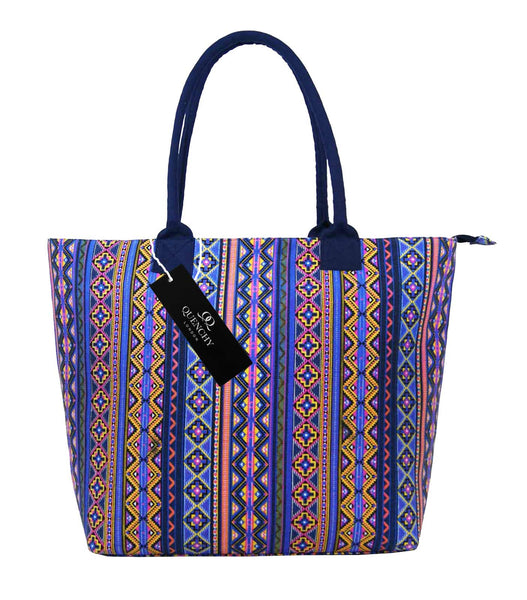 Canvas Shopping Tote Beach Bag Aztec Orange QL3154Of