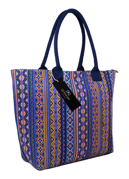 Canvas Shopping Tote Beach Bag Aztec Orange QL3154Os