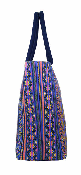 Canvas Shopping Tote Beach Bag Aztec Orange QL3154Oe