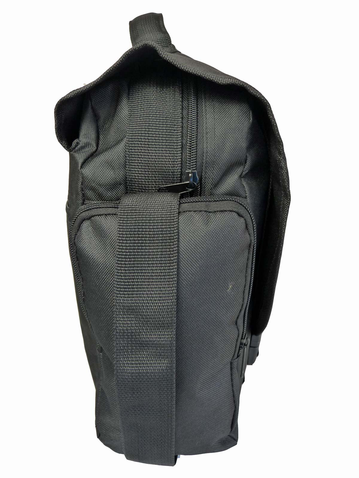 Black Dispatch Messenger Courier Bag Bags R39 end view