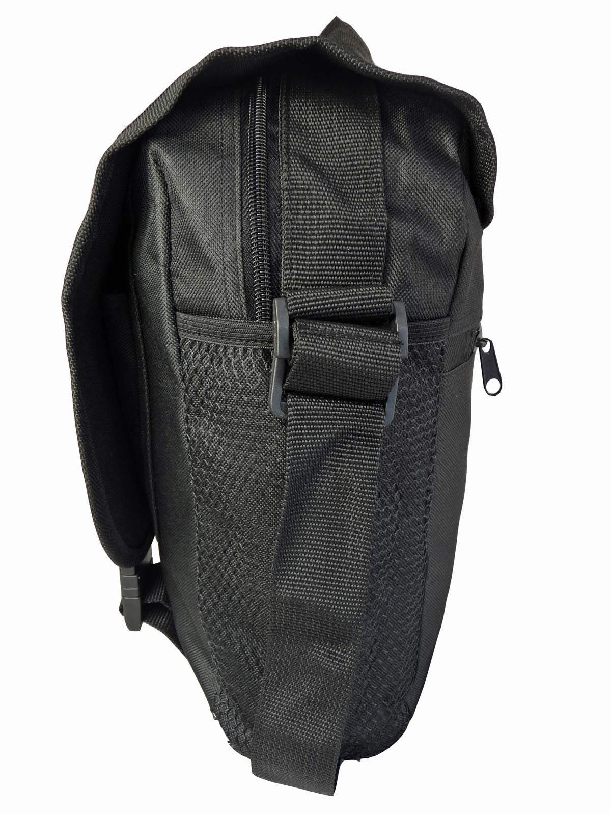 Black Dispatch Messenger Courier Bag Bags R39 r end view