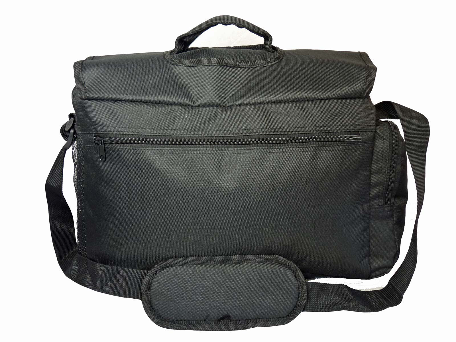 Black Dispatch Messenger Courier Bag Bags R39 back view