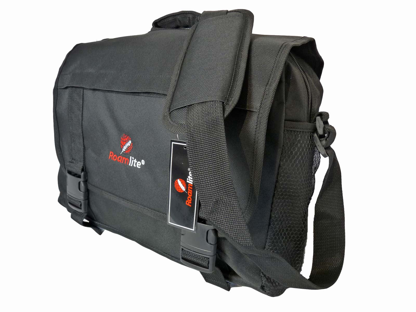 Black Dispatch Messenger Courier Bag Bags R39 r side view