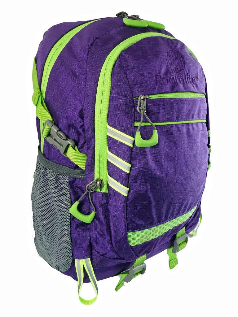 Hi High Viz Vis Backpack RL47Pu Purple Side View
