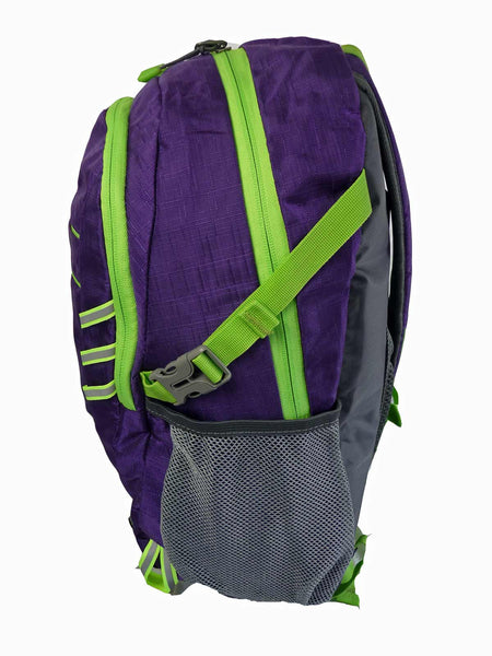 Hi High Viz Vis Backpack RL47Pu Purple Side Side View