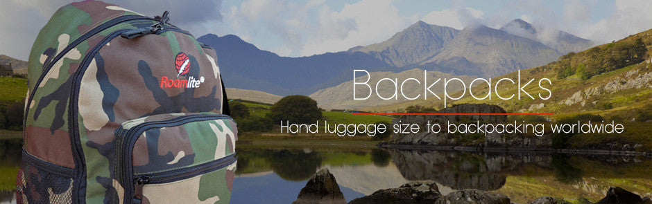 Hand luggage to camping backpacks