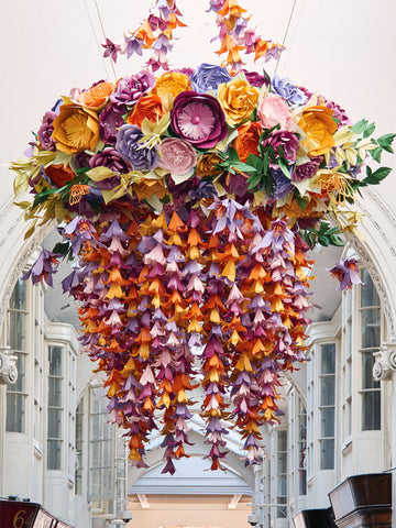 Paper artist zoe bradley creates chandeliers for london burlington both hand crafted paper chandeliers will be going up for sale in september as im not sure we have room for them when they return to our studio aloadofball Image collections