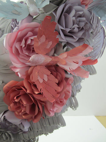 Detail of paper Wig