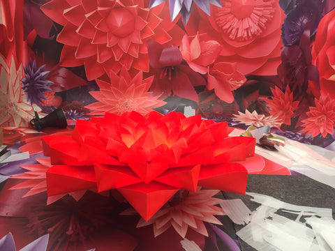 Zoe bradley design blog tagged paper flowers 400 hand sculpted flowers were created from bradleys studio and sculpted into a series of landscapes that were photographed by arthur woodcroft and mightylinksfo