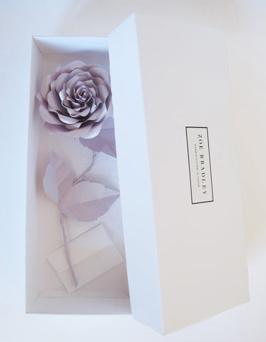 "<span face=""Didot"" color=""black"" style=""color: black; font-family: Didot;""> Everlasting Lavender Paper Rose </span>"