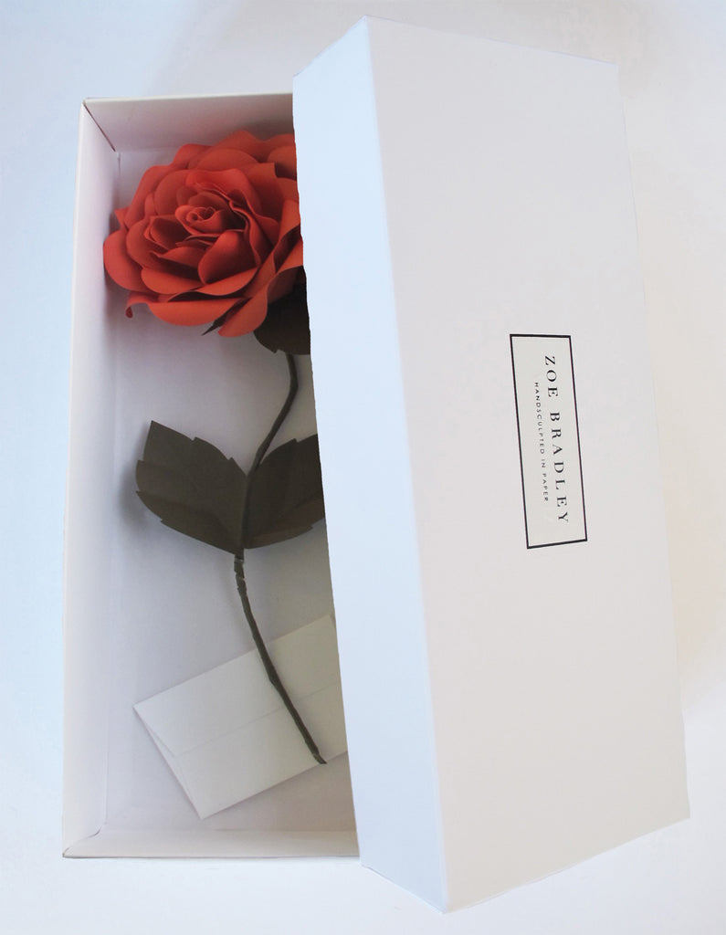 "<font face=""Didot"" color=""black"" >Everlasting Russet Red Paper Rose</font>"