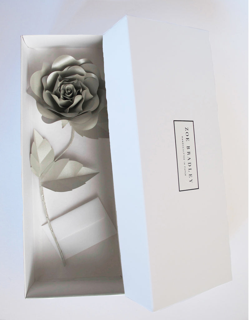 "<span face=""Didot"" color=""black"" style=""color: black; font-family: Didot;""> Everlasting Silver Paper Rose</span>"
