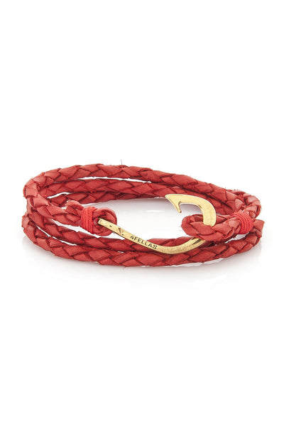 Sunset Red-Gold Plated Hook Bracelet