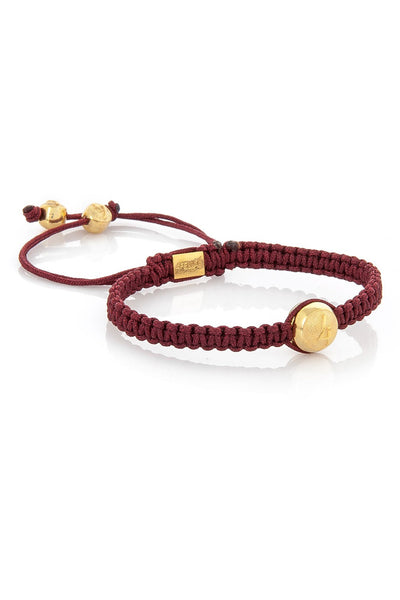 4Fellas Classic Red -Gold Plated Bracelet