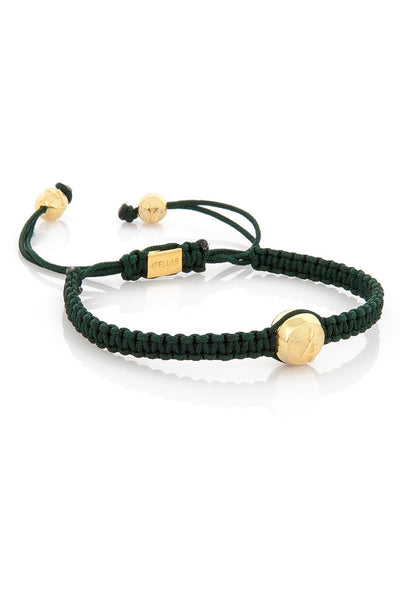 4Fellas Classic Green-Gold Plated Bracelet