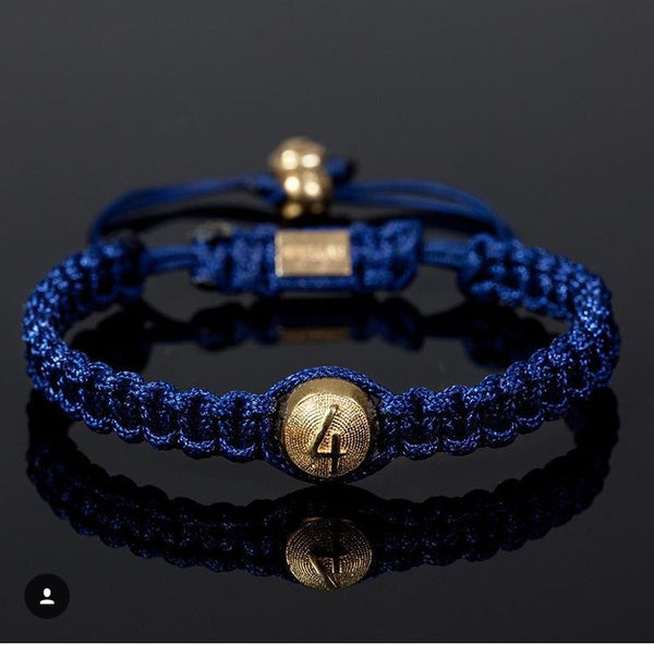 4Fellas Classic Blue-Gold Plated Bracelet