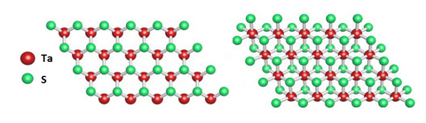 Tantalum disulfide-TaS2 2H and 1T structure