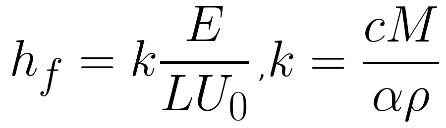 Capillary Regime Equation