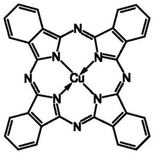 Copper(II) phthalocyanine Chemical Structure