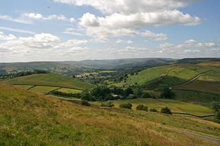 Hathersage, Peak District in Derbyshire
