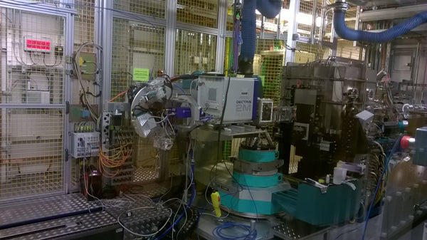 The Io7 beamline at the Diamond Light Source used to characterise the I101 perovskite inks.