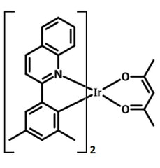 chemical structure of Ir(dmpq)2(acac)