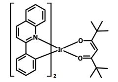 Chemical structure of Ir(dpm)PQ2 (CAS 713079-03-9)
