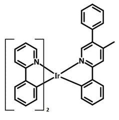 chemical structure of Ir(ppy)2(bpmp)