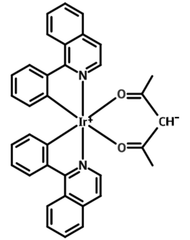 chemical structure of tiopc ir(piq)2(acac)